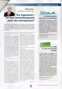 Journal Medef Article habitat juillet2012
