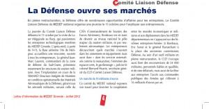 Journal Medef juillet2012-Article défense