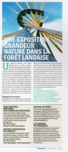 Laquitaine-Journal C-regio-Article Expo Landes-PhBayle